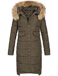 def8efa1c9ad Elara Damen Daunenjacke   Jacke mit Echt Fell Echt Pelz Kapuze   Echte  Daunen   Designer Winterjacke  …