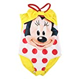 DISNEY Filles Minnie Mouse Maillot De Bain, jaune