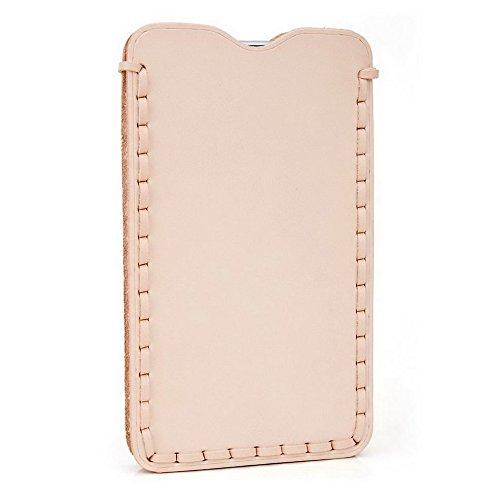Kroo Étui ultra fin en cuir véritable pour téléphone portable Sharp Aquos cristal Marron - peau Marron - peau