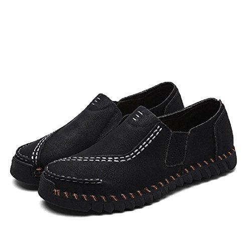 Herren Lässige Schuhe Persönlichkeit Atmungsaktiv Wohnung Zuhause Tragbar Freizeitschuhe Black