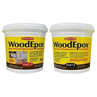 Abatron WoodEpox Epoxy Wood Replacemnt Compound, 2 Gallon Kit, Part A & B