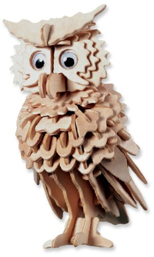 All4LessShop 3 D Wooden Puzzle Owl Affordable Gift for your Little One! Item #DCHI WPZ E038
