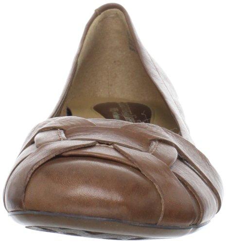 Naturalizer Maude étroit Cuir Chaussure Plate Coffee Bean