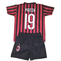 Completo PIATEK Milan Ufficiale 2019/2020 Bambino Uomo Adulto Maglia + Pantaloncini Pantaloncino Completino Home 19 Krzysztof Piątek (S)