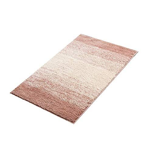 Phcom Badezimmermatte - Moderner Minimalismus/Farbverlauf / 100% Polyester/Verdickung/Wasser absorbierende Matte, Innenfußauflage/Wohnzimmerteppich, Umweltschutz, D_50x 80cm,A, 50 x - Verdickung Verlassen