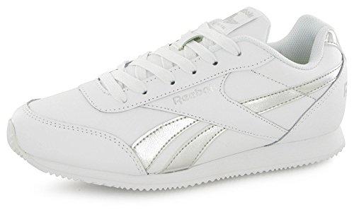 Reebok Mädchen Bs8012 Turnschuhe weiß/Silver Met, 39 EU