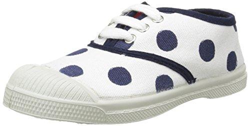 Bensimon Tennis Pois, Baskets Basses Mixte Enfant Bleu (516 Marine)