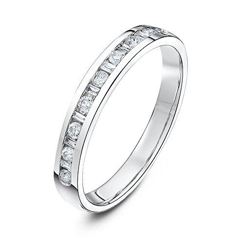 Theia donna 18 carati oro bianco rotonda trasparente diamante finering