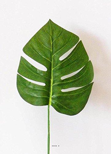 Künstliche–Blatt Philodendron X6H 42cm Stoff beschichtet für Außen D 15cm