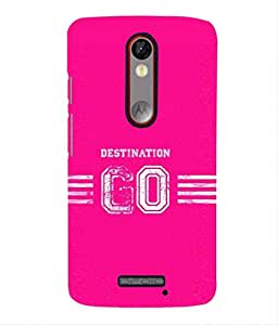For Moto X Force -Livingfill- Destination Go Message Printed Designer Slim Light Weight Cover Case For Moto X Force (A Beautiful One of the Best Design with a Classic Theme & A Stylish, Trendy and Premium Appeal/Quality) (Red & Green & Black & Yellow & Other)