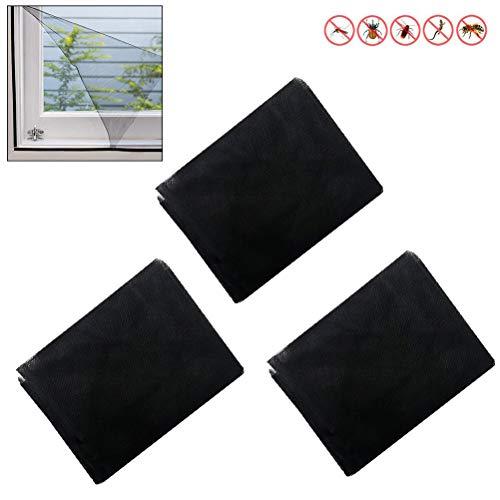 Surenhap Fliegengitter Fenster, Moskitonetz mit Klettverschluss 120 x 200cm | Zuschneidbar ohne Bohren Insektenschutz
