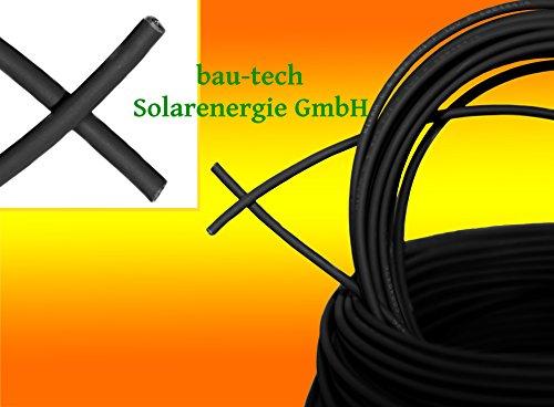 30 Meter Solarkabel schwarz Photovoltaik 6mm² Meterware für PV Solar Photovoltaik Montage von bau-tech Solarenergie