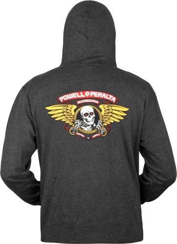 Powell Peralta Winged Ripper Kapuzen Sweatshirt anthrazit