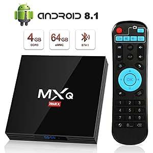 Android 8.1 TV Box 4GB+64GB superpow MXQ MAX Android Box Quad-Core mit BT4.1 3D / 2.4Ghz WiFi / 100 LAN / H.265 / USB3.0 HDMI Smart TV Box