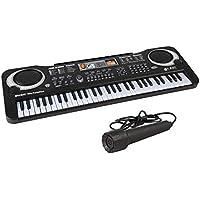 Juguete para Piano Simulado Órgano Electrónico de 61 Teclas con Micrófono Instrumento musical ...