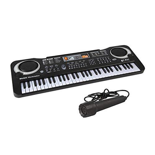 61 teclas niños teclado electrónico órgano Teclado electrónico con Karaoke y micrófono para niño