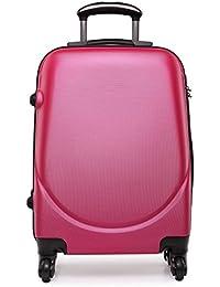 Kono Maleta pequeña de tamaño cabina con 4 ruedas, exterior rígido de plástico ABS, ligera, aprox. 50 cm