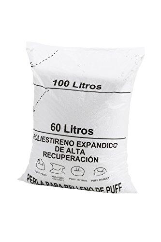 textil-home RE-Puff-1 Relleno para Puff de Bolas (Perlas), Poliestiren