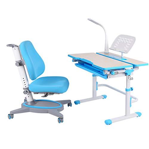 Mdf Moderner Schreibtisch (PIGE Multifunktionaler Kindertisch und Stuhlstuhl - Moderner minimalistischer Stil, handgefertigte Holzpaneele, große Tischplatte, tragbares Hebesystem, günstiger und praktischer Kindertisch.)