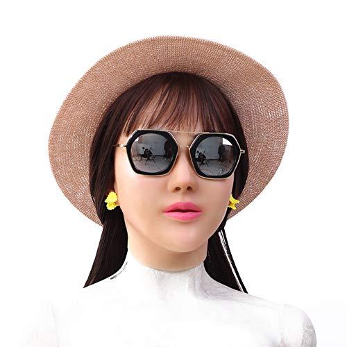 FHSGG Realistische Silikon Weibliche Maske Drag Queen für Crossdresser Cosplay Maskerade
