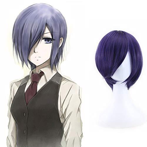 Templom SIX Anime Charaktere Spielen Cosplay Perücken Anime Manga Kostüm Kunsthaar(Tokyo Ghoul-Touka Kirishima)