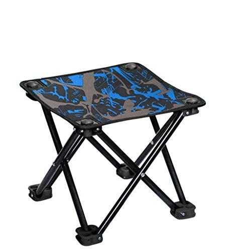 Extérieur, Pliage, Chaise, Portable, Camping, Plage, Pêche, Croquis, Portable, Portant 140Kg, Tissu Oxford, Hauteur 24cm (Couleur : Bleu)