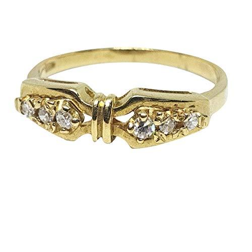 Anello veretta donna in oro giallo 18kt 750 con 0,10ct di diamanti h vs