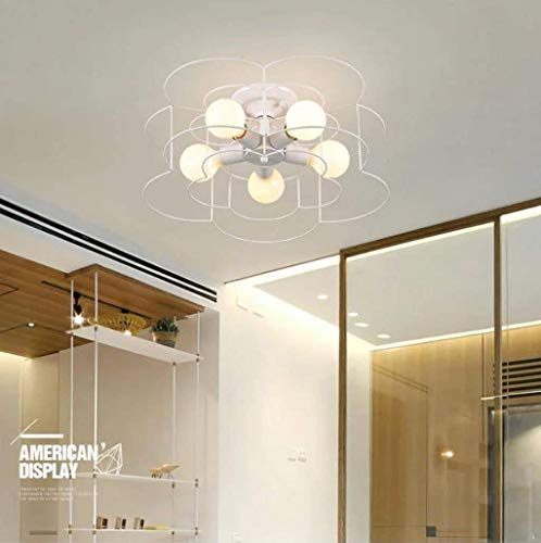 LXD Modern Minimalist Living Room Lamp, Bedroom Lamp, Dining Room Lamp, Home Fashion Fixed Lamp,White