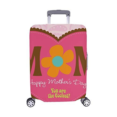 (70 s Stil Muttertag Karte Muster Spandex Trolley reisegepäck Schutz Koffer Abdeckung 28,5 x 20,5 Zoll)