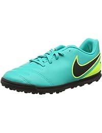 Nike 819197-307, Zapatos de Fútbol Unisex Infantil, Turquesa (Clear Jade/Black-Volt), 37.5 EU (talla del fabricante: 4.5 UK)
