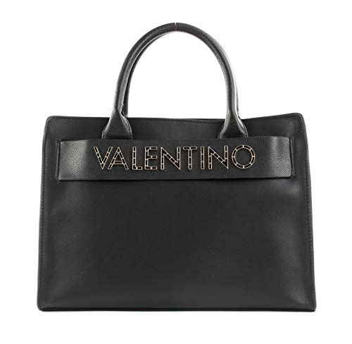 Valentino by Mario Fisarmonica, Sac porté main femme, Noir (Nero), 14x25x34 cm (B x H T)