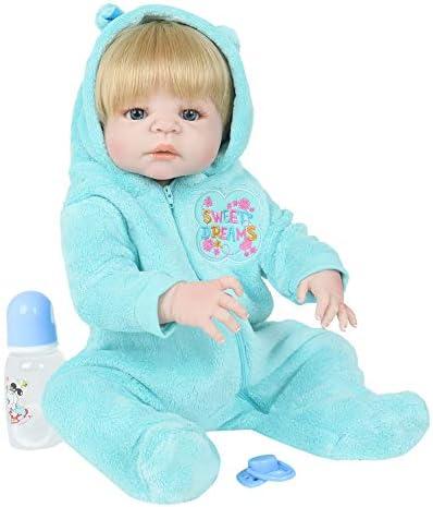 kingko Reborn Baby Doll Pas de poupée de Cheveux Cheveux Cheveux Regardez réel Corps en Silicone Fait Main Cadeaux bébé Doux Vinyle Silicone Poupée De Noël Cadeau  s Présente B07JL3C4LQ fe6076