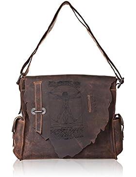 LandLeder Vintage Anatomy - Postbag Jose Gr.M - 3tgl. Büro Tasche Schultertasche