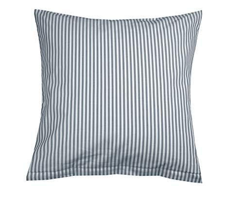 Lorena Batist Bettwäsche Basel Streifen grau Kissenbezug einzeln 40x80 cm