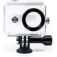 YI 2K Action Camera Waterproof Case Prueba de Agua Blanco(YI Accesorios Oficial)