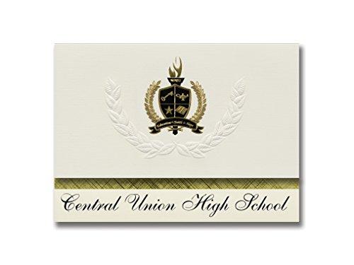 Signature Announcements Central Union High School (El Centro, CA) Schulabschluss Ankündigungen, Präsidential-Stil, Grundpaket mit 25 goldfarbenen und schwarzen metallischen Folienversiegelungen