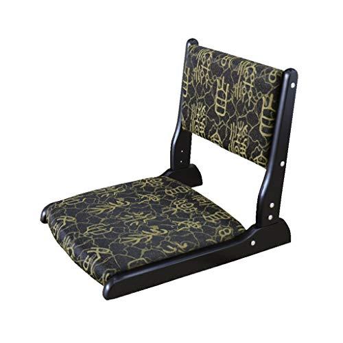 CAO-LIFE Futon Kissen Klappstuhl, Legless Hocker Faule Sofa Boden Stuhl Tragbare Lagerung Stuhl Massivholz Fenster Stuhl (größe: 43 * 45 * 52 cm) (Color : D) -
