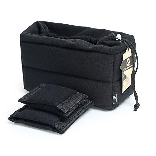 Koolertron Shockproof Padded Foldable Partition Camera Insert Protective Bag for SONY Canon Nikon DSLR Shot Or Flash Light