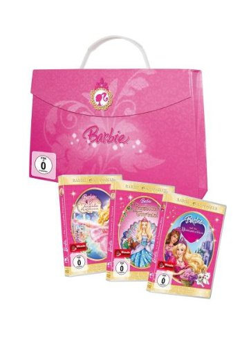 Limited Barbie Box - 12 tanzende Prinzessinnen/Prinzessin der Tierinsel/Diamantschloss (in Prinzessinnen-Handtasche) (3 DVDs)