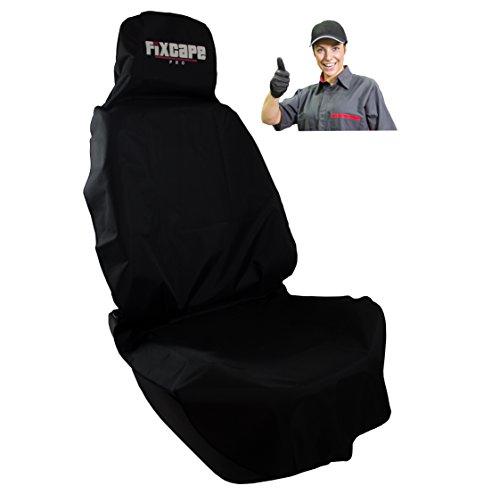 fixcape PRO robusto coprisedile universale auto impermeabile coprisedili singolo anteriori, copri sedile fodere per auto officina, artigiani e hobby