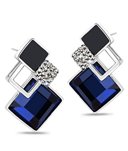 Youbella Gold-Plated Dangle & Drop Earrings For Girls And Women (Blue)