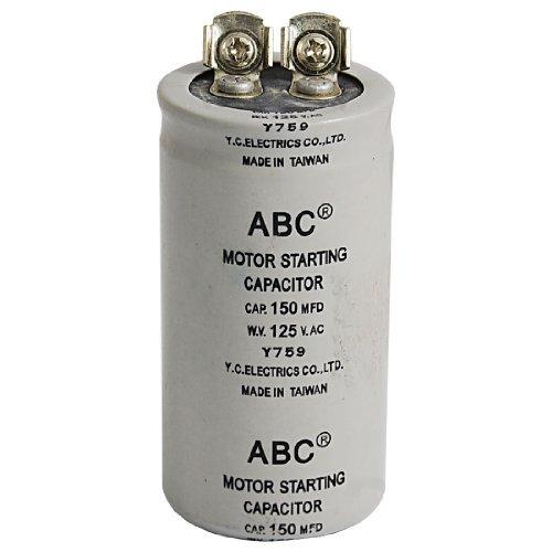AC 125V 150uF 150MFD 2 terminals Motor start condensator