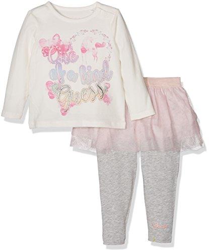 Guess Baby-Mädchen Bekleidungsset Set: T-Shirt/Leggins, Mehrfarbig (Macadamia), Neonato (Herstellergröße: 9M)