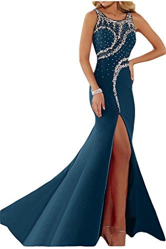 """Donna Ivydressing lussuosamente kraftool rotondo colletto""""sassi un'ampia vestito da sera abito da festa Dunkelblau"""