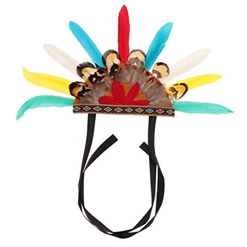 B Blesiya Indianer Stil Hundehut Hund Katze Mütze Kopfschmuck Haustier Kostüm Zubehör