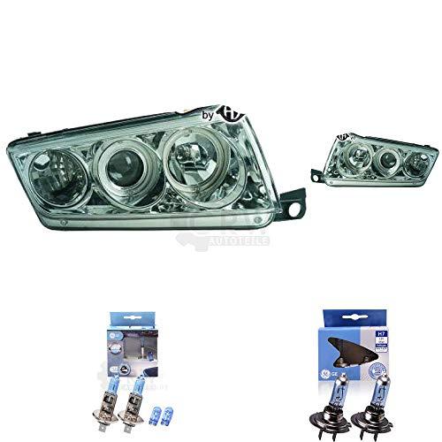 Preisvergleich Produktbild Scheinwerfer Set Fabia I 6Y 99-07 3 / 4 / 5-Türig klarglas / chrom
