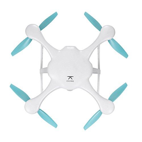 Ehang GHOSTDRONE 2.0 Aerial RC + Quadrocopter mit 3-Achsen Hochpräzisionsgimbal &4K HD Sports Actionkamera, iOS/Android APP Bedienung, 25 Min Flugdauer, Bis zu 1000m Sendebereich,Weiß - 4