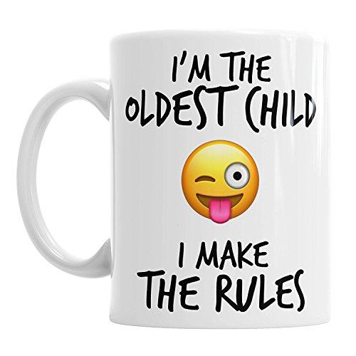 ten Kind Rules Funny Emoji-Kaffee Tasse Geschenk ()