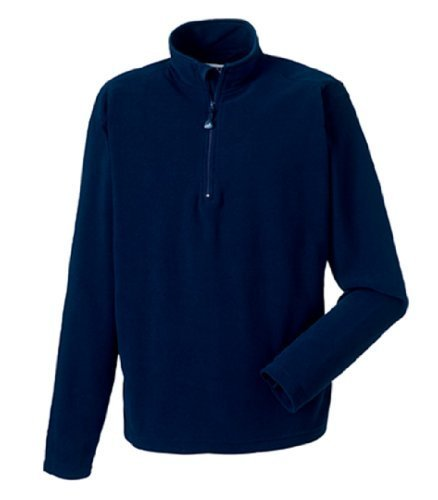 Sweatshirt en microfibre polaire col zippé Russell homme XXL bleu marine