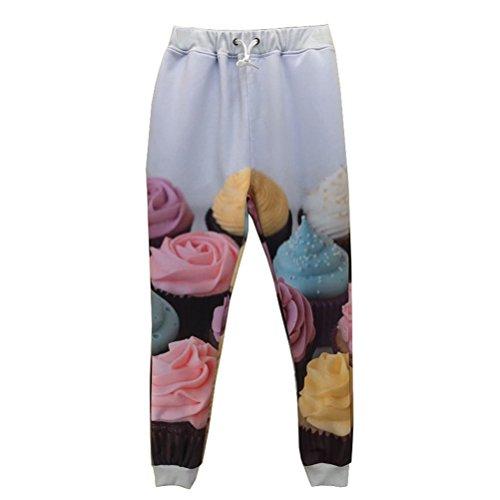 YKpants 3D-Farbe Eis gedruckt Jogger Pants Star Skinny legere Trainingshose Übergrößen Hosen